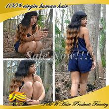 Fashion style!brazilian human hair two tone color 1b/30 lace wig