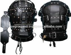 head hooded rubber hood mask animal head hooded