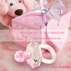 K9 Choice Crystal Collection Pink Pacifier Favors for Baby Shower Favors