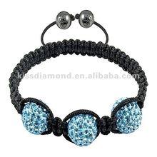 Cheap Aqua Bracelets With Shamballa Balls
