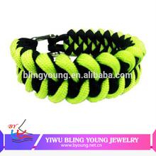 Metal charms paracord bracelet accessories