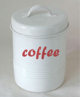 U.K market metal tea sugar coffee storage jars canisters