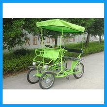 steel frame leisure 4- wheeled surrey bike