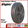 "13"" solid rubber wheel ,wedge idler 13inch rubber wheels"