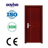 hot design classroom single leaf swing inner bathroom mdf PVC door