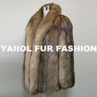 fox14350 2014 fashionable natural red real fox fur coat