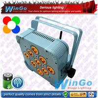 wireless dmx battery operated flat par / wireless dmx battery operated rgbaw+uv / battery power wireless dmx led par