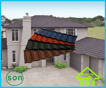 2014 building material colorful stone coated metal roof tile