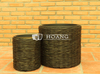 New design Poly Rattan Round Pot with New Style Wicker
