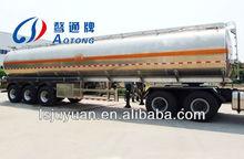Aluminum Fuel Tanker(Cylindrical-Type Tank) for export ,highq uality bitumen tank trailer for export
