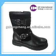 New Design 2014 Children Black Cow Suede Boots