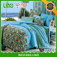 chinese reactive print 100% cotton wedding bedding set