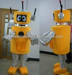 yellow robot plex mascot costume yo gabba gabba adult costumes
