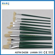 12 pcs wooden handle artist paint brush set