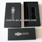 Luxury Single Key Ring Boxes, Sponge Hole Goft Packagings, Rectangle Hat Boxes With Silver Logo