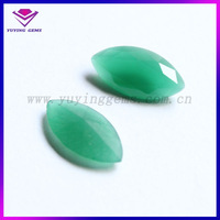3*6mm Marquise Cut light Green Synthetic glass Gemstone