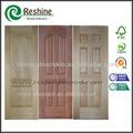 الباب مغطى لوحة خشب القشرة hdf مصبوب باب الجلد