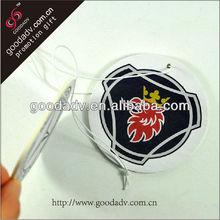 Customized shape logo air freshener paper air freshener top car air fresheners