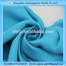 50D satin chiffon fabric with chiffon overlay dresses
