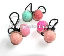 Lovey Acrylic beaded ponytail holder for baby girl