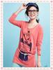 Plain red for 2014 high quality bulk blank t-shirt