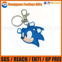Promotional soft cute pvc keychain, bird shaped keychain wholesales