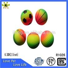 Rubber soft fluorescent sports bouncy stress ball