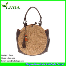 Blue Ladies Summer Straw Mesh Bag Unique Straw Hobo bag
