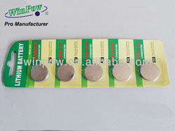 Cr2032 alkaline battery 3 volt lithium button cells battery from China manufacturer