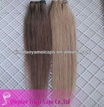 Pelo importados de china naturales productosdebelleza extensiones de cabello indio italia y armadura del pelo( ym- w- 208)
