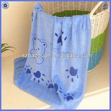 baby bath towel/plush microfiber baby shower towel favors
