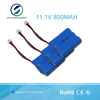 Li-ion Battery Pack 11.1V 800mAh Cylindrical Li-ion 14500 3S Battery Pack For Wireless Alarm System