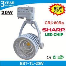 High CRI Sharp chip 20w 4 wire cob led ceiling track light