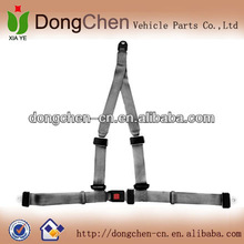 full-back 3 point safety belt harness gray color, safety belt full body harness, 3 point racing car belt