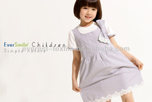 Design/made in Taiwan factory kids clothes EverSmile girl organic cotton dress