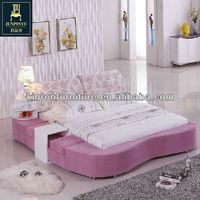 Modern Design Fashional Fabric Pink Bed CSY-C7030