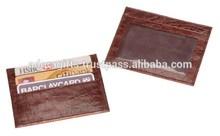 Promotional Leather Credit Card Holder / best quality man and woman leather credit card case / business card case
