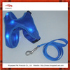 2014 blue air mesh led dog harness and leash set