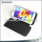 3800mah Best quality wallet battery case for galaxy s5