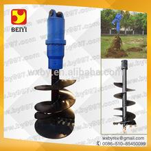 excavator hydraulic auger attachment