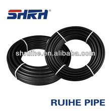Plastic black HDPE/Polyethylene pipe dn20mm to 1200mm