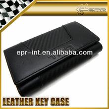 Stylish carbon fiber leather car key case