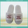hotel cotton fabric men's open toe indoor slippers