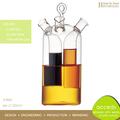 Handmade Borosilicate Glass Oil and Vinegar Bottle