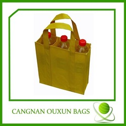 Wholesale three bottle wine carrier bag