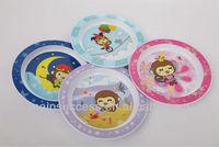 Melamine like bpa free plastic plate with IML decoration