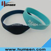 125KHz/13.56Hz rfid silicone wristbands,rfid wristband price