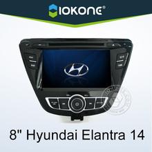 "2014 factory 8"" HD Touch screen 2 din car dvd player for hyundai elantra with gps, TMC, camera, mic, dvb-t"