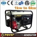 neumático portátil kit de motocicleta y silencioso 5kw 5 kva generador de china hyundai estilo