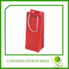 Factory direct sale nonwoven wine tote bag
